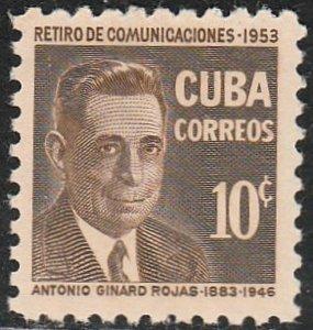 1954 Cuba Stamps Sc 518 Antonio Ginard Rojas MNH