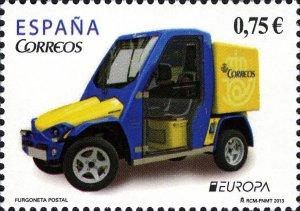 Spain 2013 MNH Stamps Europa CEPT Postal Vans Cars