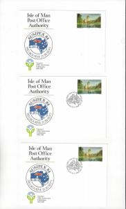 Isle of Man AUSIPEX 84  Exhibition Card  Mint & Posted