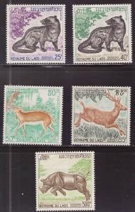 LAOS Scott 219-222, C83 MNH** Animal set 1971
