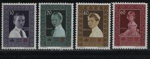 LIECHTENSTEIN 293-296 (4) Set, MNH, 1955 Liechtenstein Red Cross, 10th Anniv.