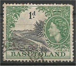 BASUTOLAND, 1954, used 1p, Orange River,  Scott 47