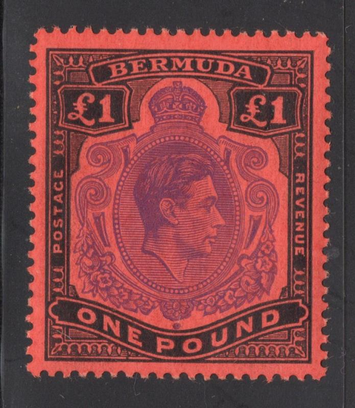 Bermuda #128 1 Pound - Black & Violet, Red - O.G. - N.H.