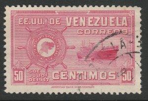 Venezuela 1948-50 50c used South America A4P53F61