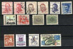 Czechoslovakia 363, 364, 618, 870, 871, 972, 1347, 1348C, 1970, J83, J8 used  PD