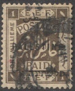 PALESTINE British Military Occupation 1922 Sc 48  1m Used VF