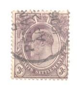 Straits Settlements Sc 106 1903 3 c Edward VII stamp used