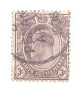 Straits Settlements Sc 106 1903 3 c Edward VII stamp used