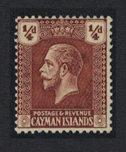 Cayman Is. George V 1v ?d MH SG#69