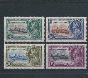 CAYMAN IS 1935 SILVER JUBILEE MM SG 108/111 CAT £20