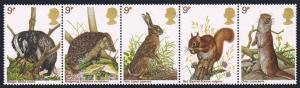 Great Britain Sc#816-820a  1977 Wildlife protection MNH