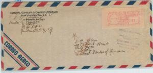 79017 - GUATEMALA - Postal HIistory -  Mechanical postmark lable on COVER Birds