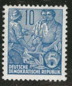 German DDR  Scott 227 MH* redrawn perf 13x12.5 1955 stamp
