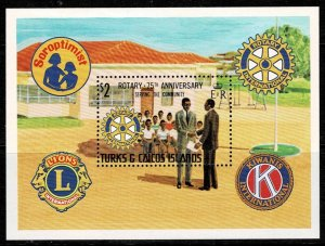Turks and Caicos Island   75th Anniv of Rotary MNH M/s