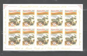 MONACO 2006 INTERNATIONAL PHILATELIC EXHIBITIONS ADHESIVE LABELS- FULL SHEET