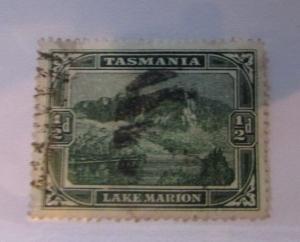 Tasmania Australia SC #86 LAKE  MARION  used stamp