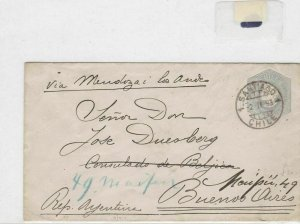 chile to buenos aires 1893 stamps cover  Ref 8526