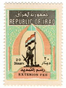 (I.B) Iraq Revenue : Consular Fee 20D (Extension Fee)