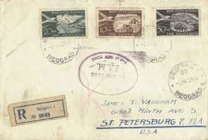 Yugoslavia 20D Gulf of Kotor Air and 10D Ohrid Air with 50D Bled Air 1954 Beo...