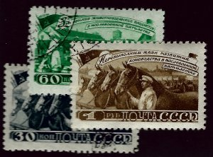 Russia SC#1265-1267 Used VF SCV$17.00...Worth a Close Look!!