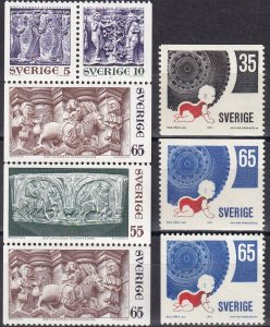 Sweden #895a, 896-8  F-VF Unused CV $3.95  (Z6226)