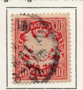 Bayern Bavaria 1888 Early Issue Fine Used 10pf. NW-120731