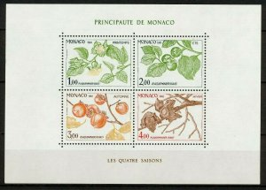 Sc# 1315 ss - Monaco - 1980 - Persimmon Tree / Seasons - MNH - superfleas - cv$9