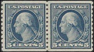 496 Mint,OG,VLH... Pair... SCV $8.00