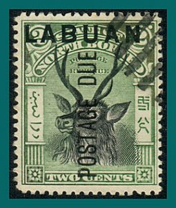 Labuan 1901 Postage Due, Sambar Stag, cancelled  #J1,SGD1
