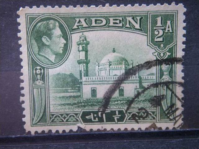 ADEN, 1939, used 1/2a, Mosque, Scott  16
