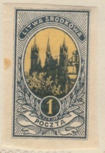 Central Lithuania Mittellitauen Lituanie Lituania 1921 1m MH* A8P11F121