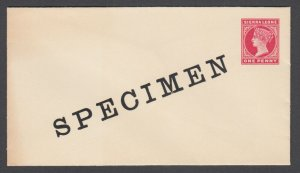 Sierra Leone H&G B1a mint 1898 1p carmine Queen Victoria SPECIMEN Envelope, tone