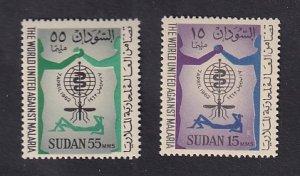 Sudan  #142-143   MNH  1962  malaria eradication