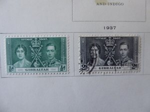 Gibraltar 1886-1967 Stamp Collection on Album Pages