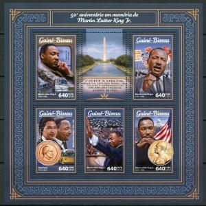 GUINEA BISSAU 2017  50th MEMORIAL ANN OF MARTIN LUTHER KING, Jr. SHEET  MINT NH
