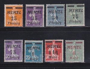 Memel 56, 58-63, 65 MHR Surcharges