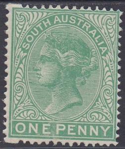 SOUTH AUSTRALIA 1876 QV 1D MNH ** WMK CROWN/SA PERF 15