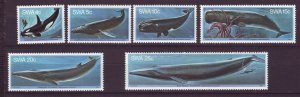 J24547 JLstamps 1980 south west africa set mnh #437-42 whales