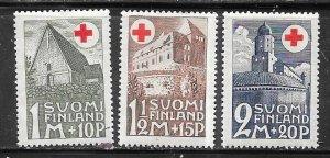 Finland #B5-B7 Red Cross set (MLH) CV $15.30