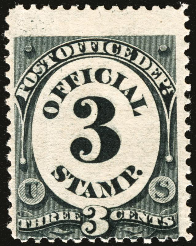 #O108 3c Black 1879 Post Office Official *MNH*