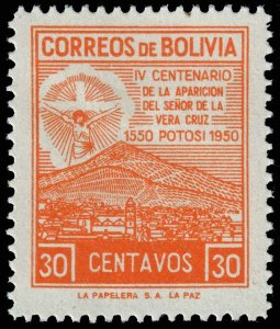 Bolivia  - Scott 335 - Mint-Hinged - Thin - Paper Inclusion