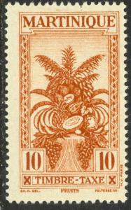 MARTINIQUE 1943 10c Tropical Fruit VICHY Postage Due Sc J36A MLH