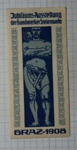 Steel Worker Artisan Expo Braz 1908 Exposition Poster Stamp Ads