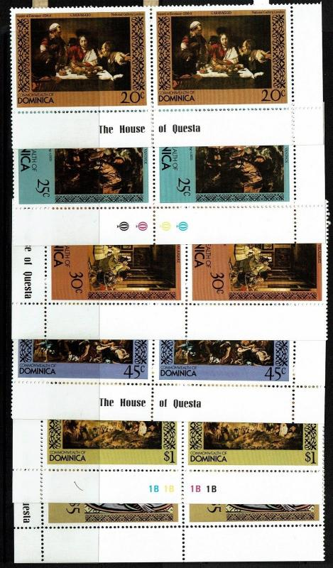 Dominica SC# 669-674, pairs, Mint Never Hinged, see notes - Lot 021917
