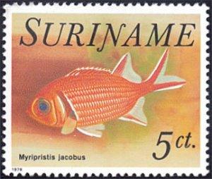 Surinam # 451 mnh ~ 5¢ Fish - Myripristis jacobus