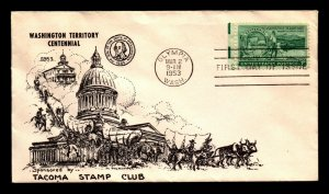 US SC# 1019 FDC / 1st Tacoma Stamp Club Cachet / Light Bending - L6337