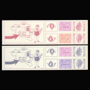 BELGIUM 1978 - Scott# 977a-b Booklets-Lion NH