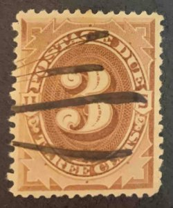 US Stamps #J3 Used #J3A123