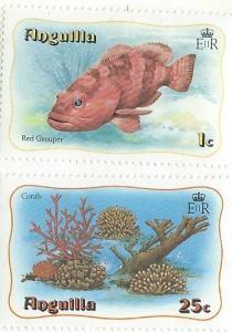 Anguilla #463 & 468  (MNH)  CV $2.00