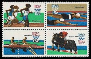 PCBstamps     US #1791/1794a Block 60c(4x15c)Summer Olympics, MNH, (17)